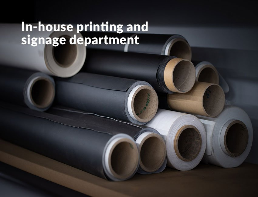 How we work printing and labeling department
