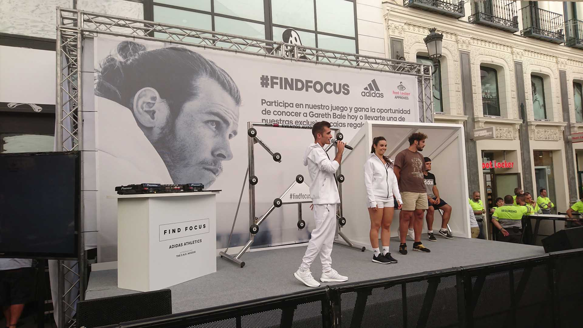 Adidas collection presentation event scenography