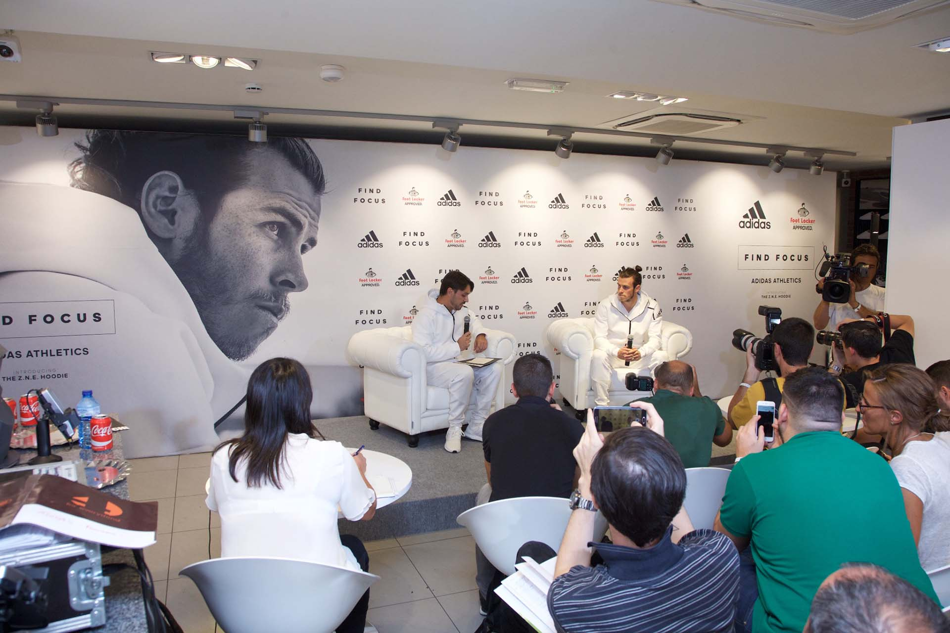 Adidas collection presentation event press conference