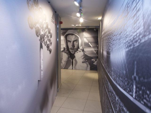 Adidas collection presentation event hallways aluvision