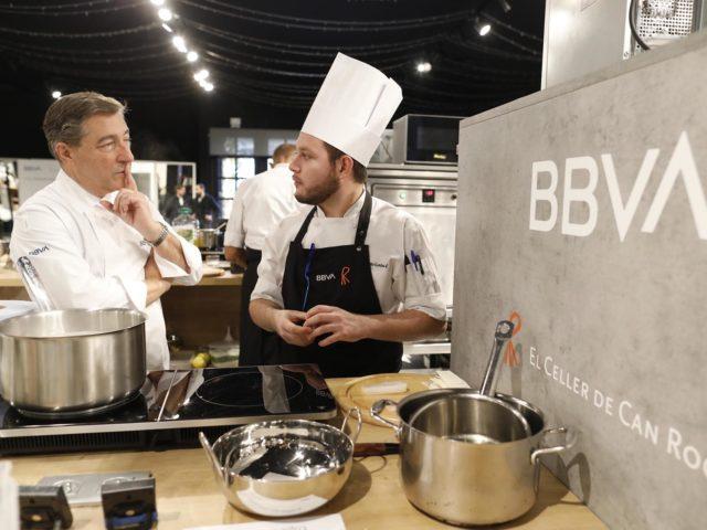 Event awards BBVA hospitality scholarships kitchen construction