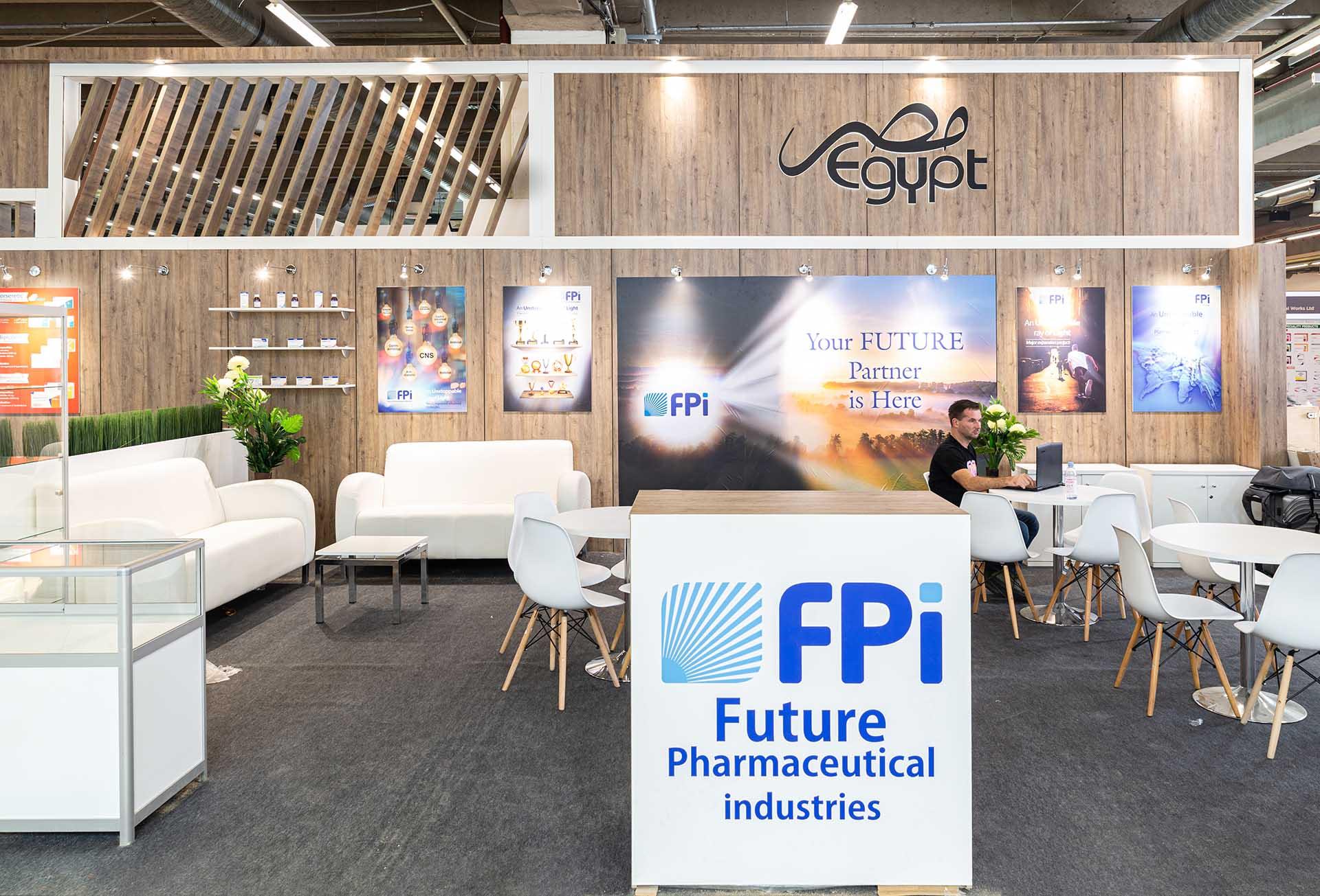 Feria CPHI construcción stand