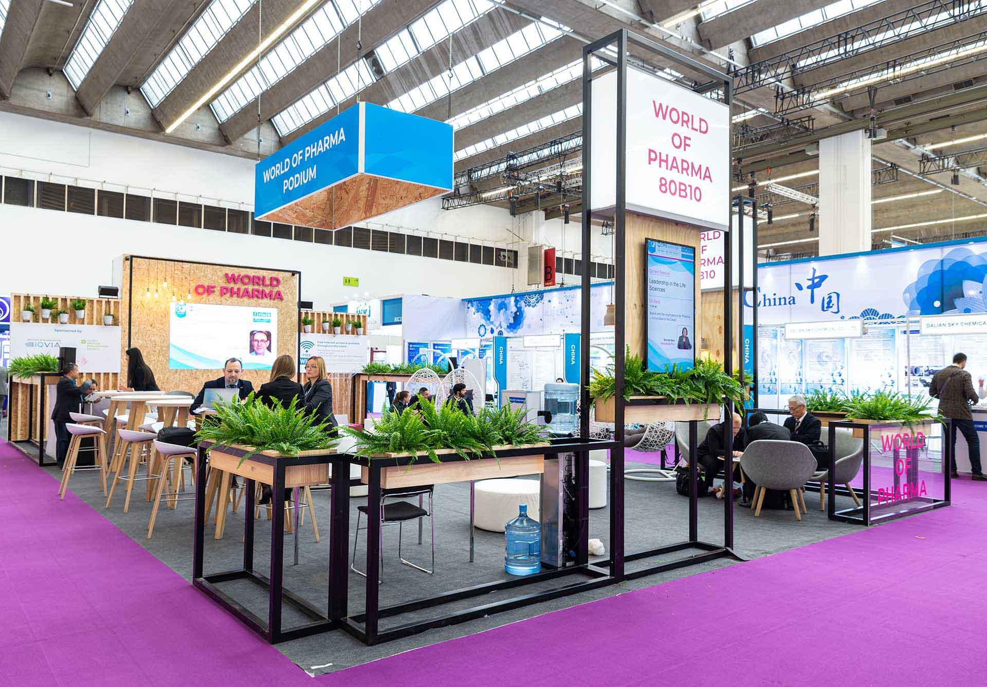 Feria CPHI diseño áreas comunes