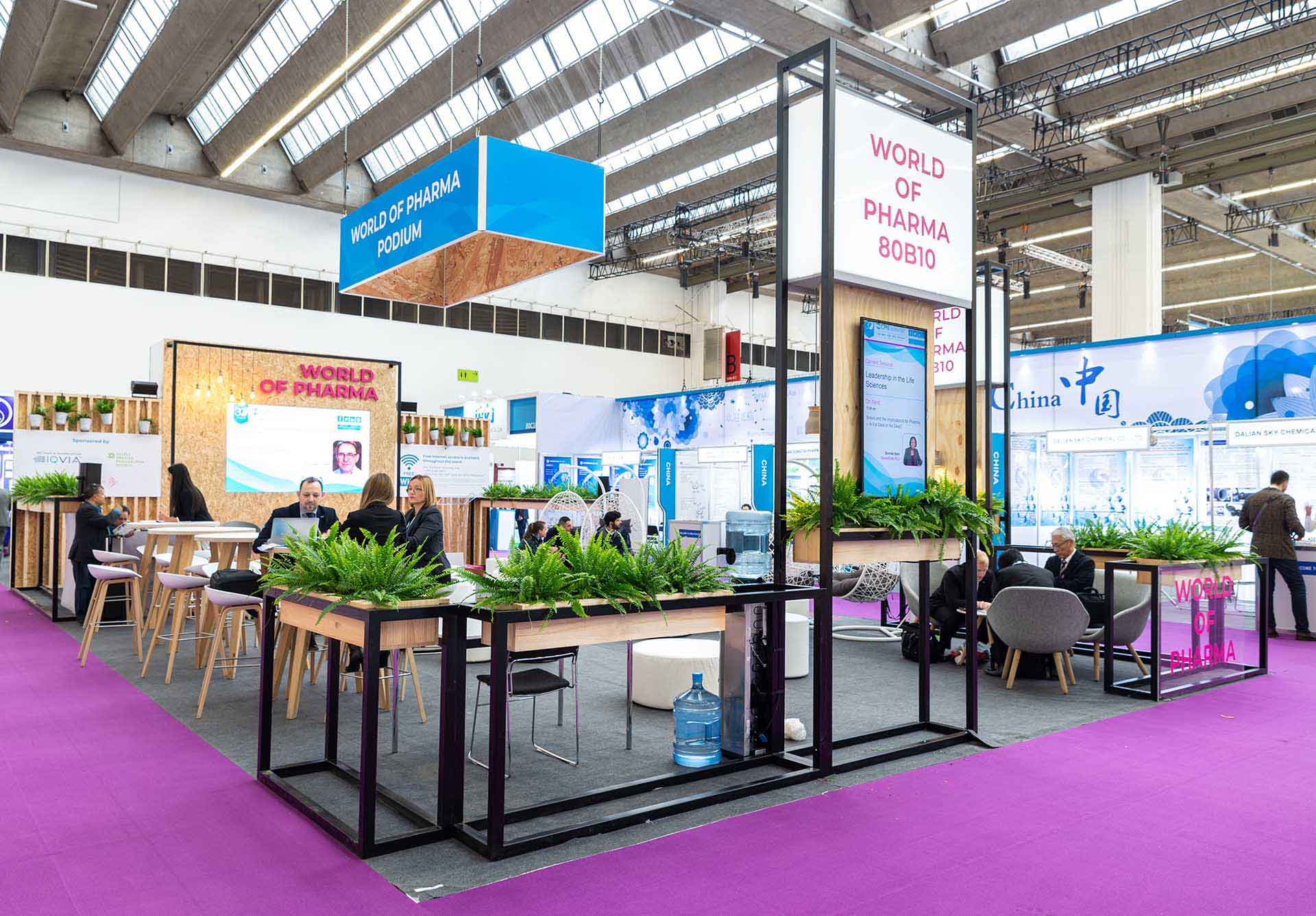 CPHI exhibition common areas design