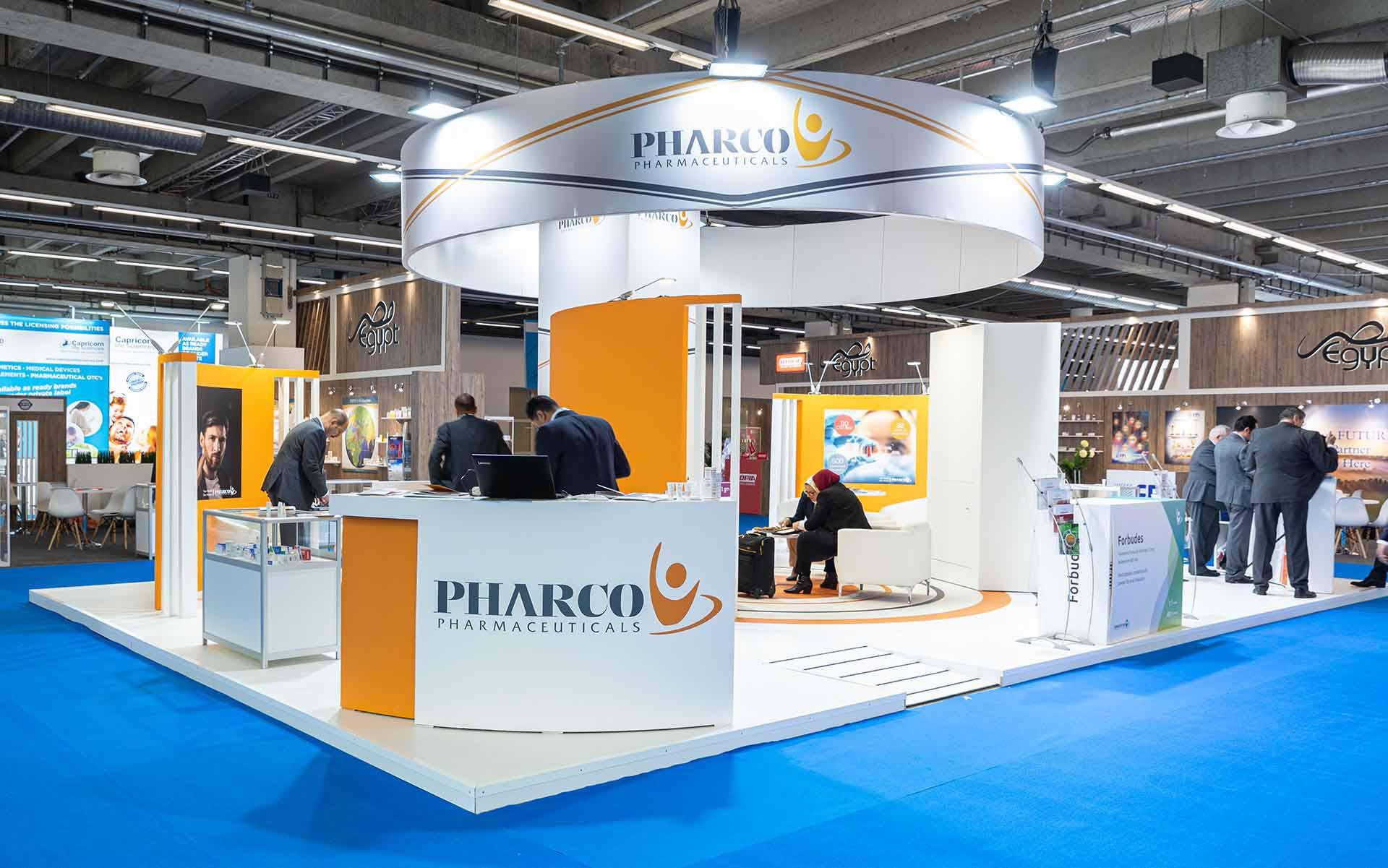 Feria CPHI construcción stand pharco farmeuticals