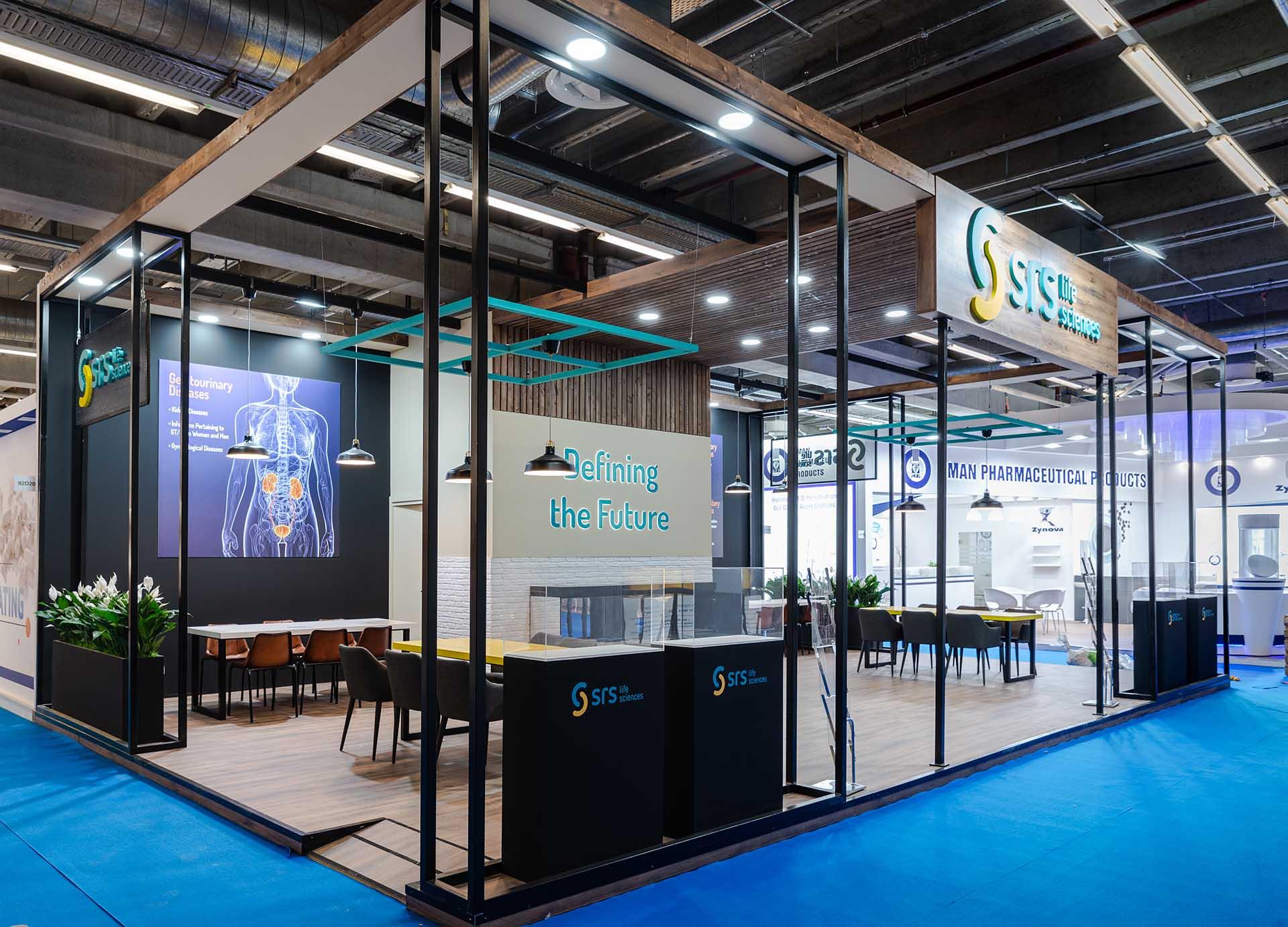 Feria CPHI construcción stand SRS