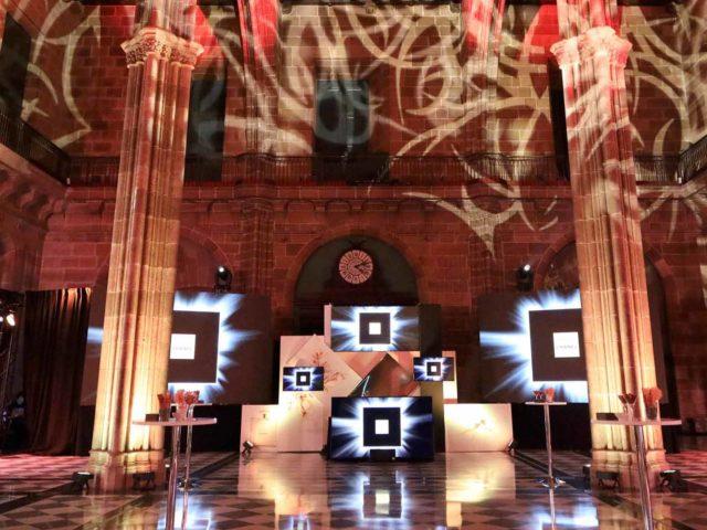 Evento presentación perfume chanel servicio audiovisuales