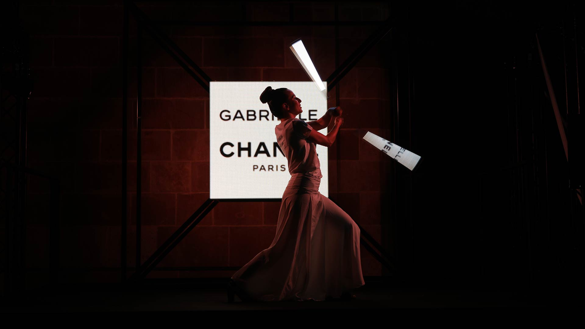 Chanel perfume presentation event hiring performance