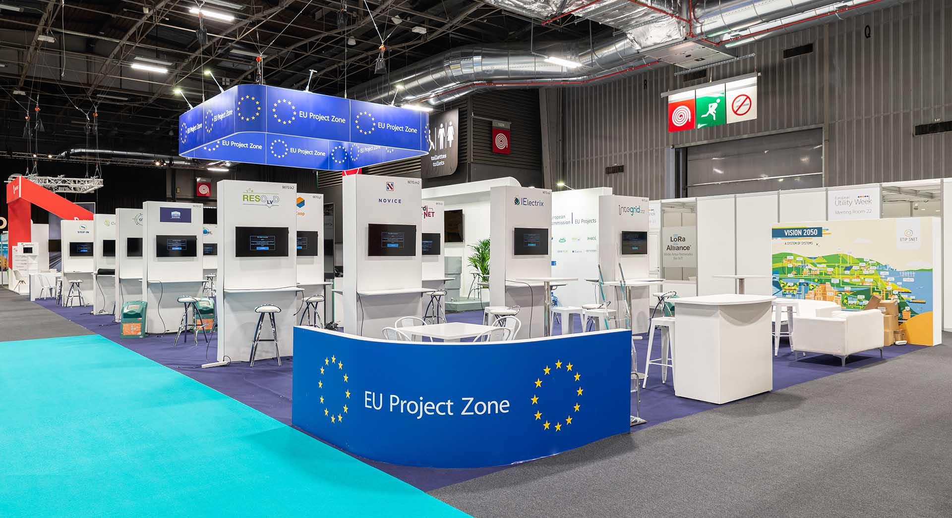 European Utility Week exhibition stand construction