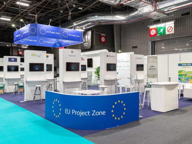 Feria European Utility Week construcción stands