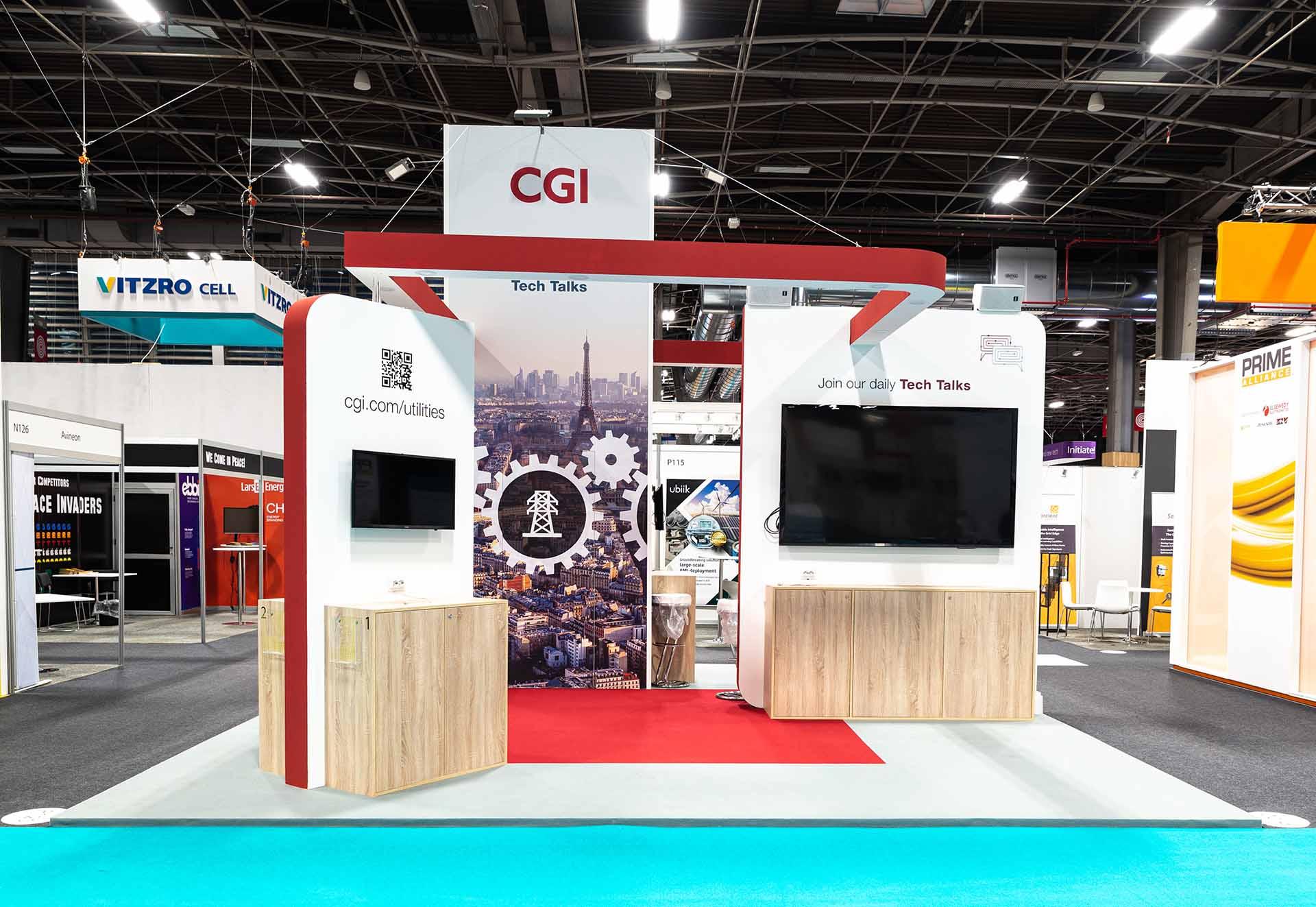 European Utility Week exhibition stand construction CGI