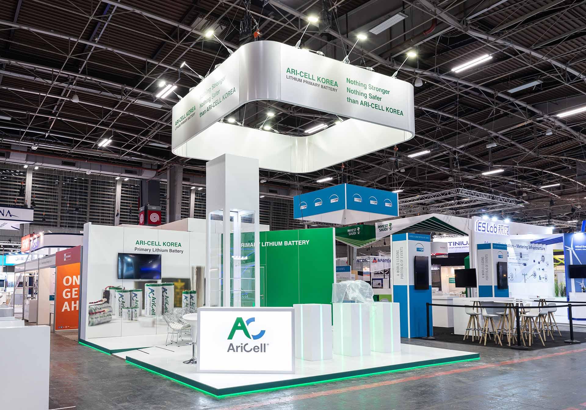 European Utility Week exhibition stand construction Aricel