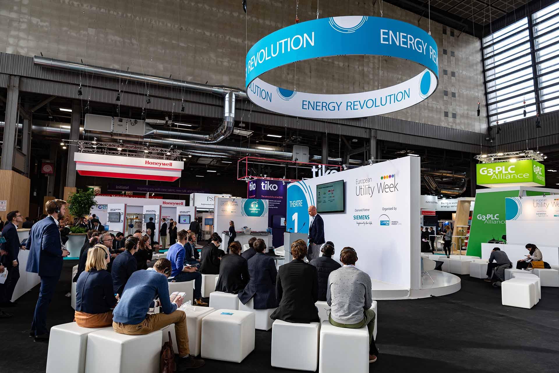 European Utility Week exhibition common areas construction