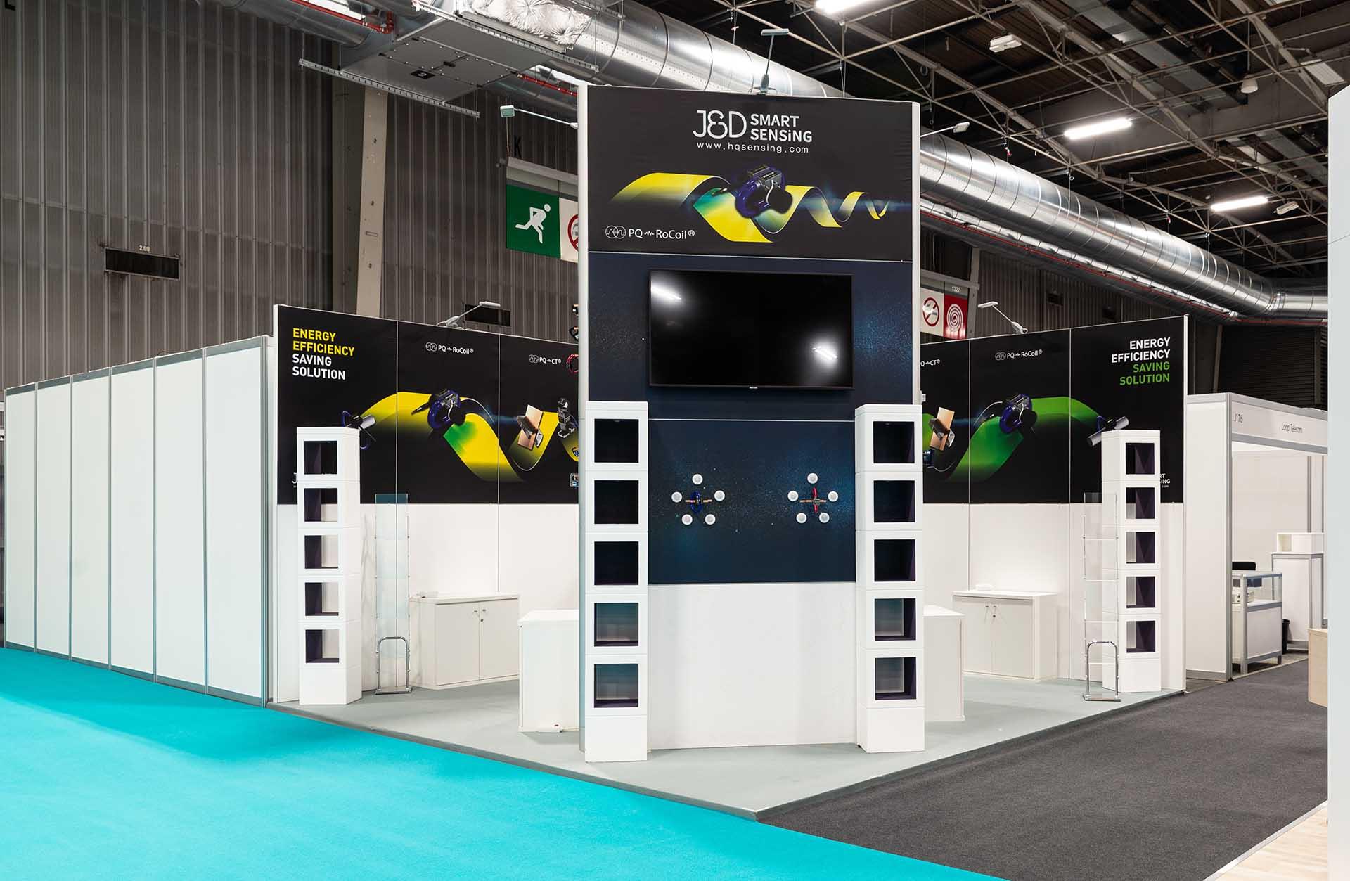 European Utility Week exhibition stand J&D construction