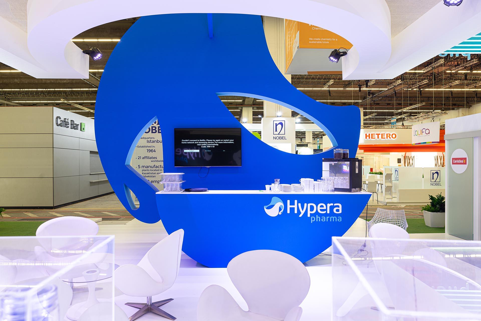 Stand Hypera Construccion zona cafetería
