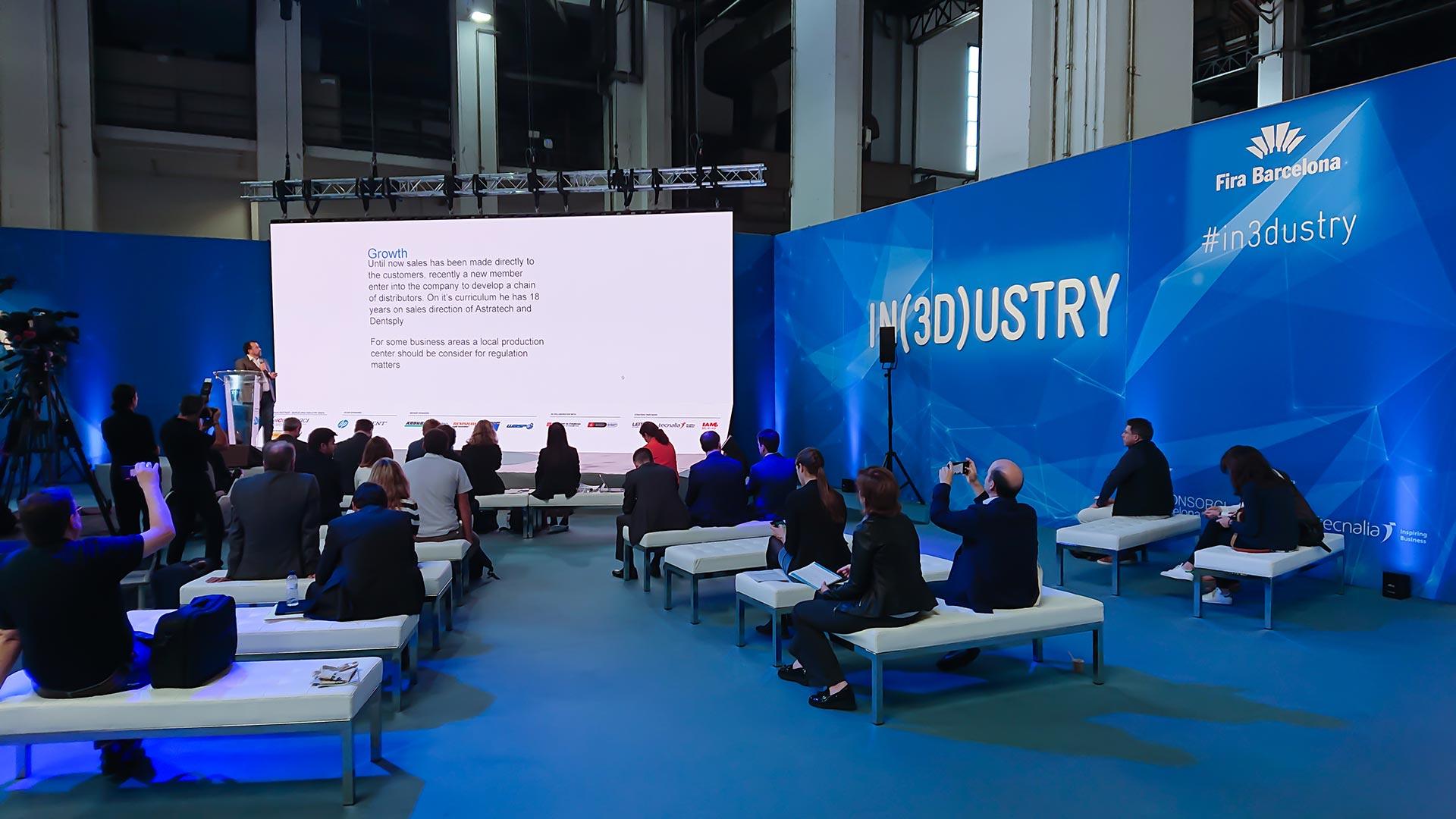 Congreso In(3D)dustry. Diseño auditorio