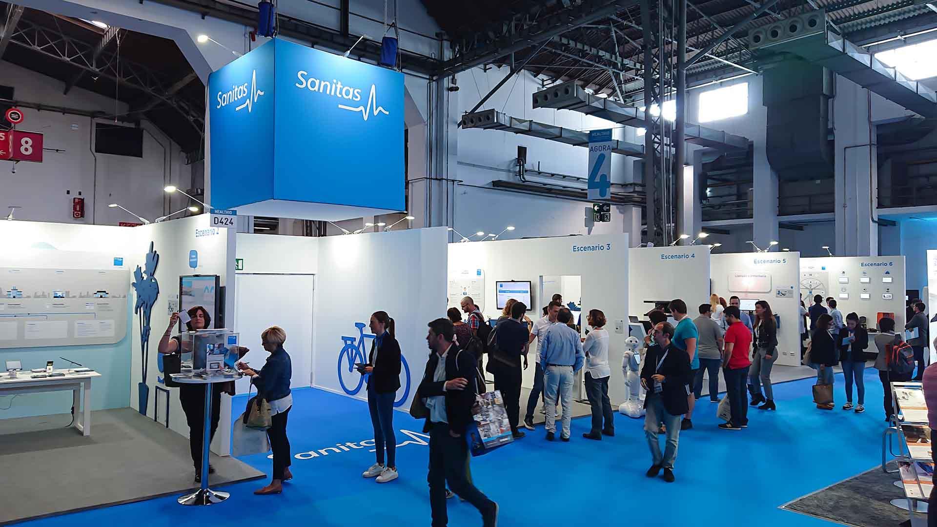 In(3D)dustry congress. Sanitas stand design