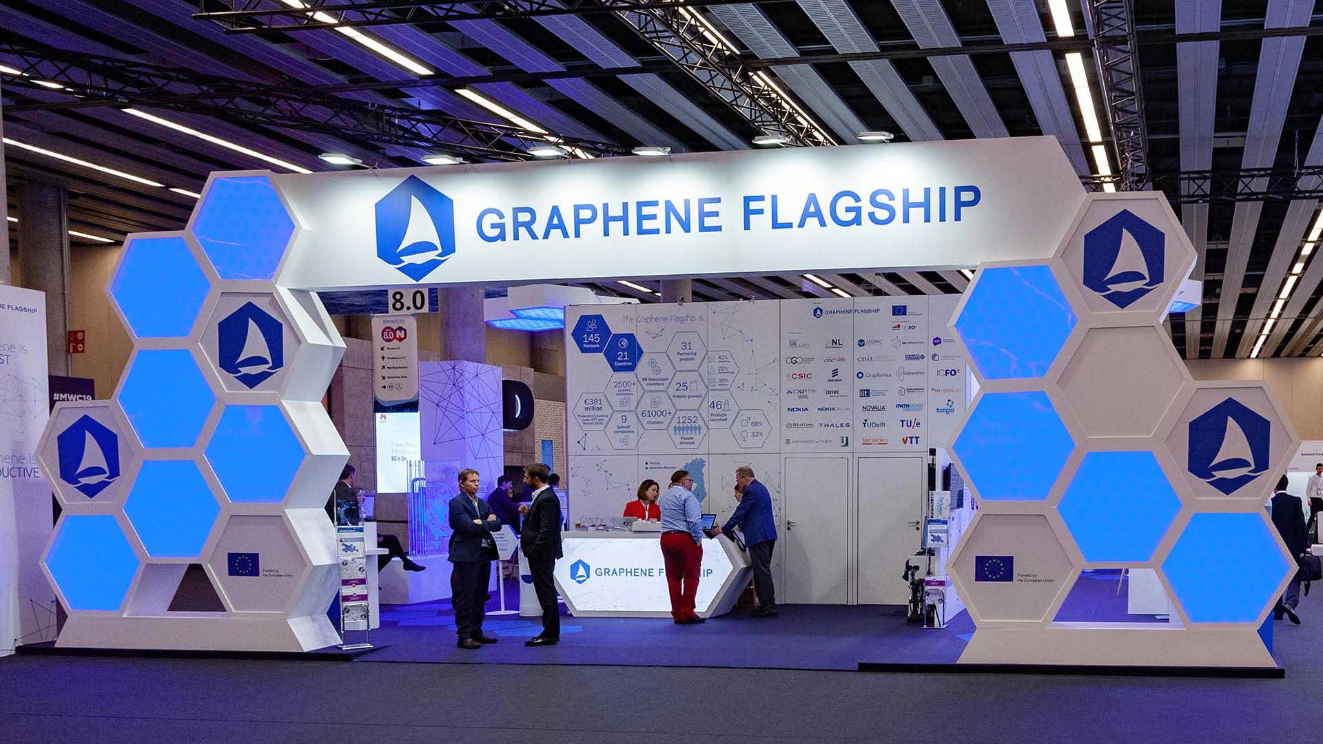 Mobile world congress. Diseño stand graphene