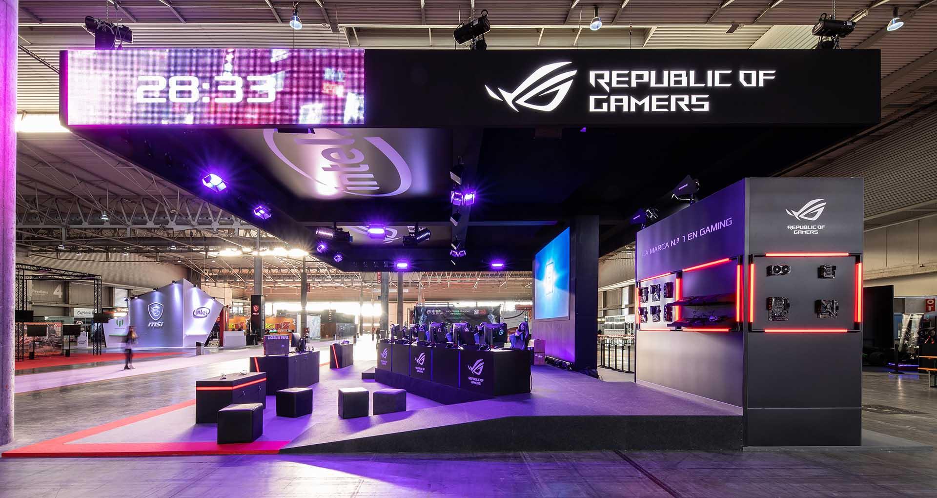 Niceone exhibition. Intel stand design