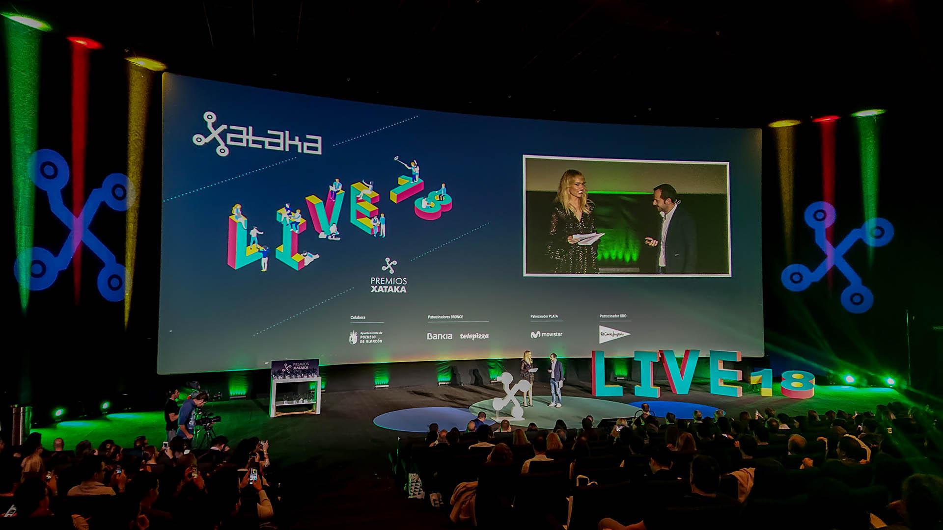 Evento presentación premios xataca. Montaje audiovisuales