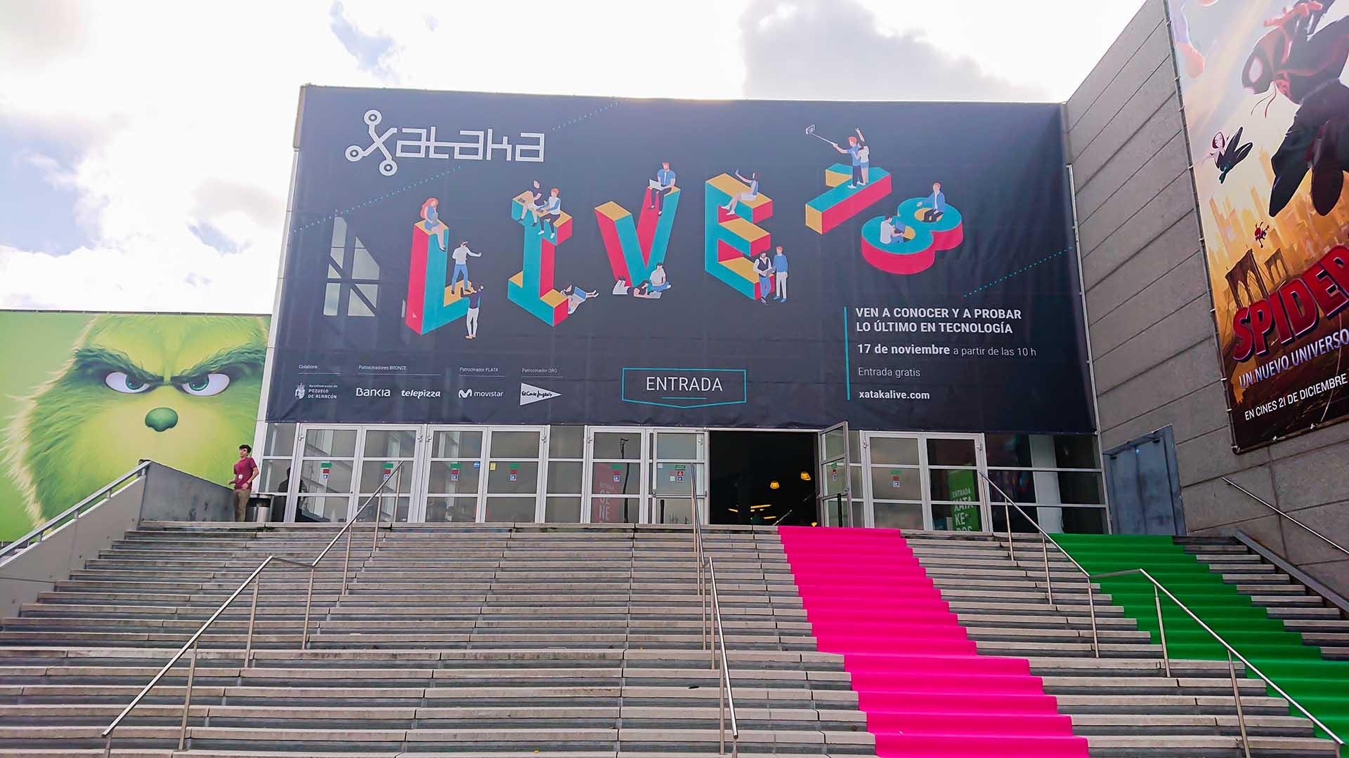 Xataca awards presentation event. Access area design