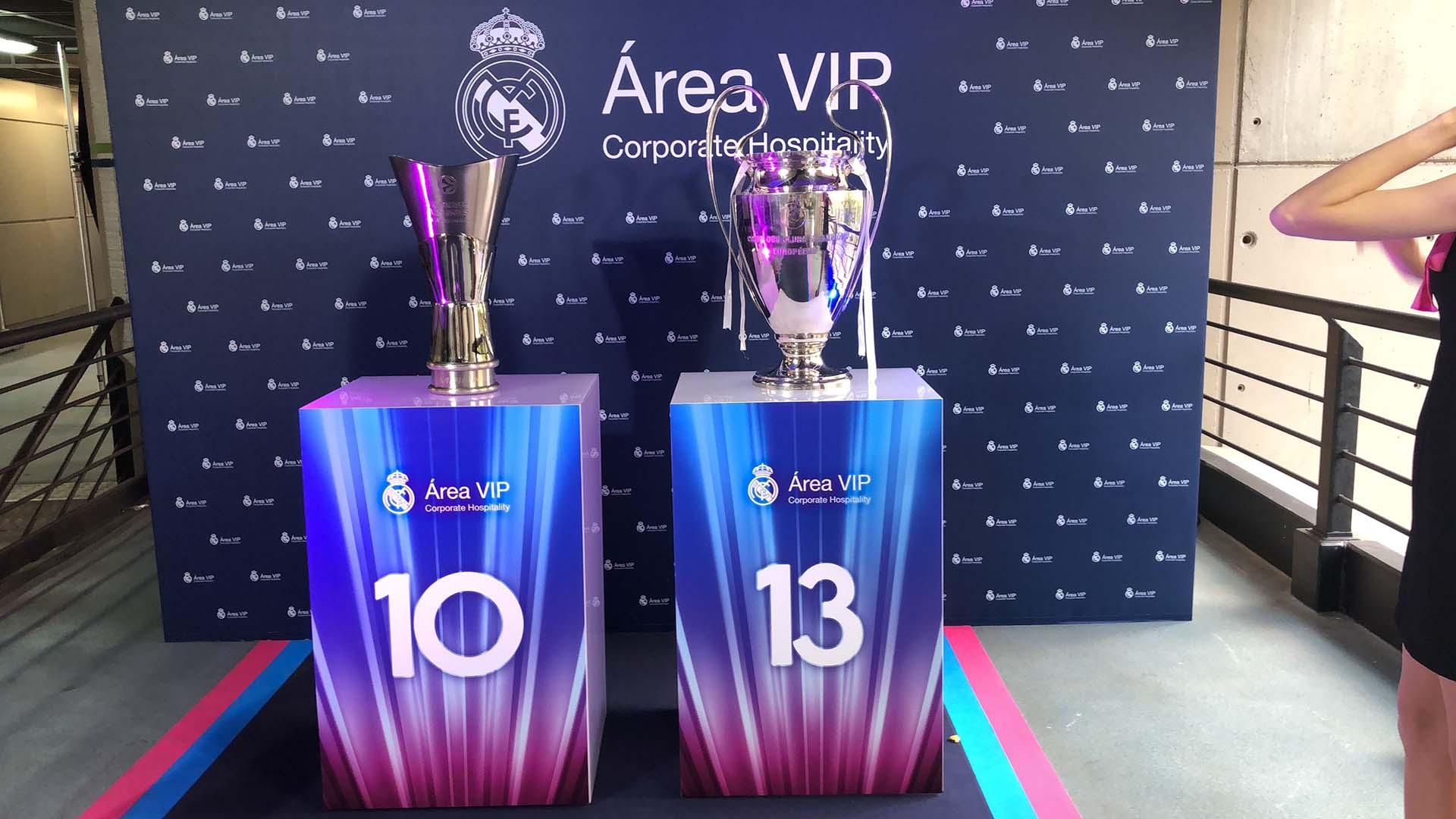 Evento anual área vip Real Madrid. Diseño decoración