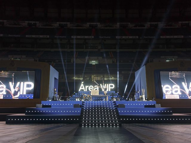 Annual event vip area Real Madrid. Stage design and production