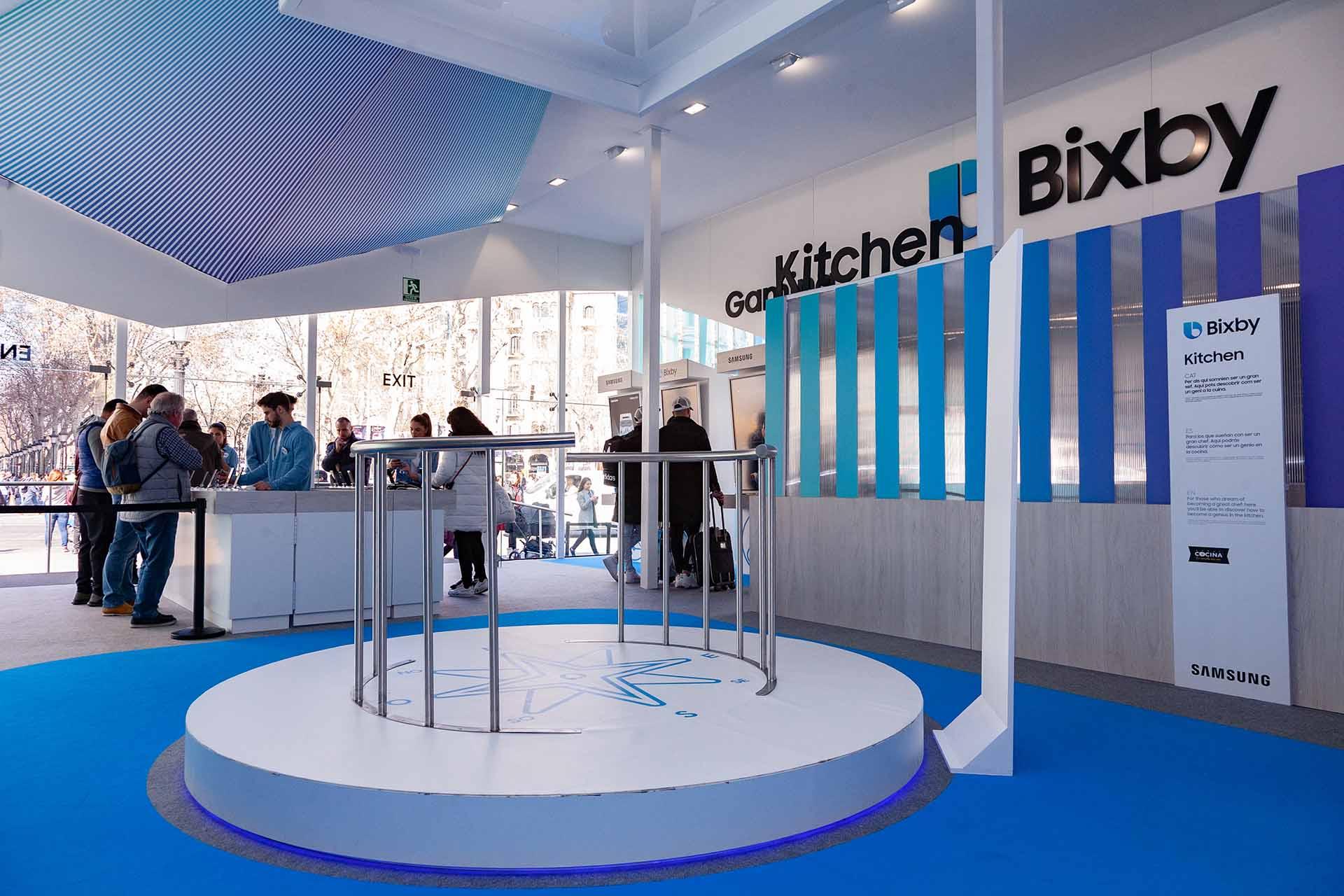 Pop up Samsung Bixby. Diseño interiorismo
