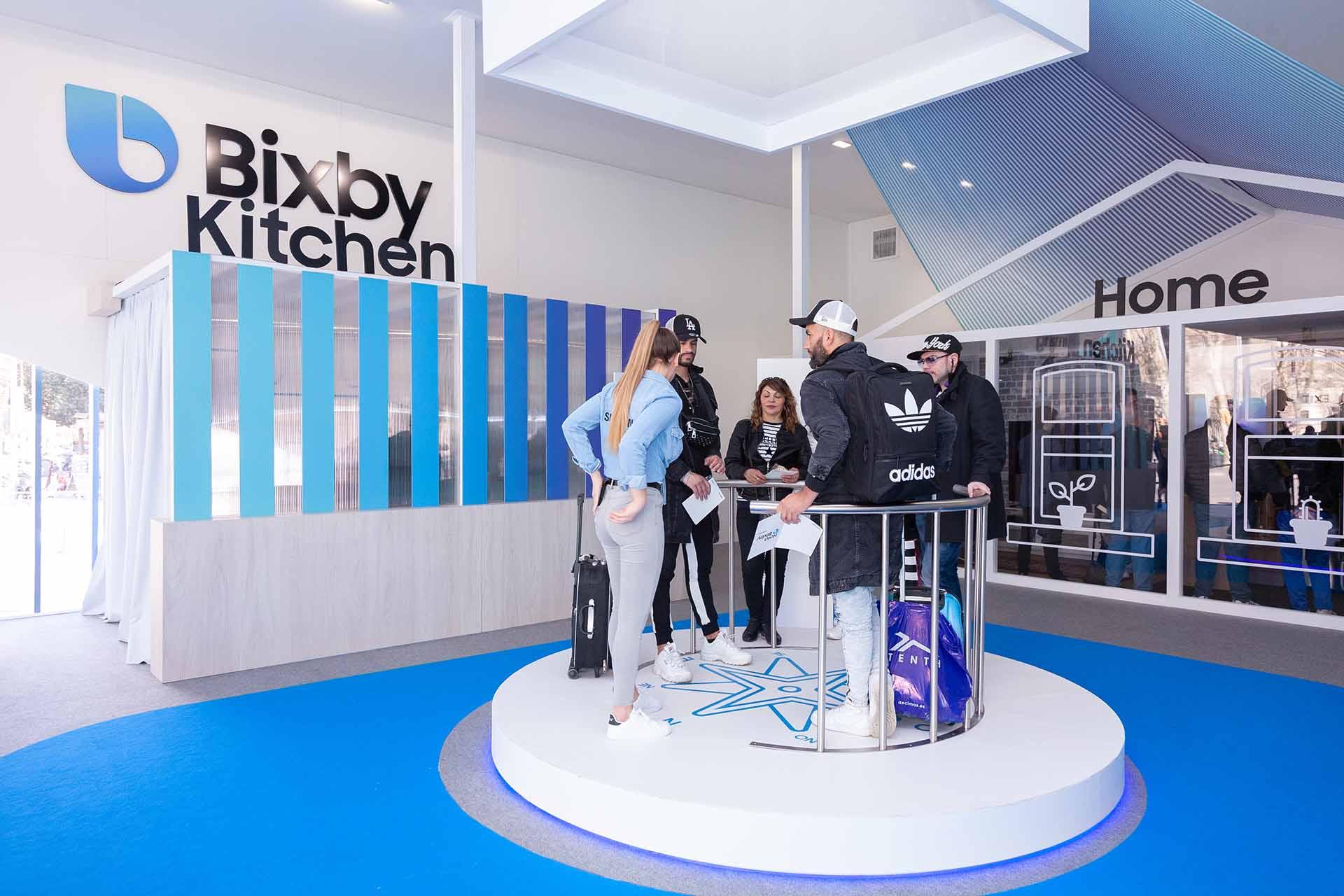 Samsung Bixby pop up. Interior production