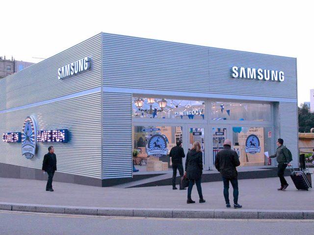 Pop up Samsung pay. Instalación pop up