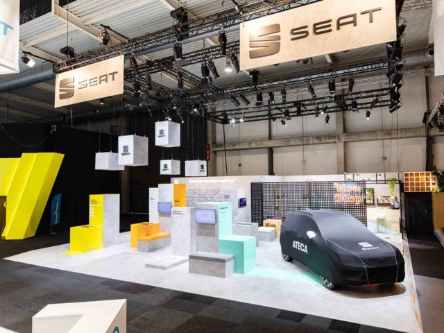 Seat smart city stand. Stand design and production