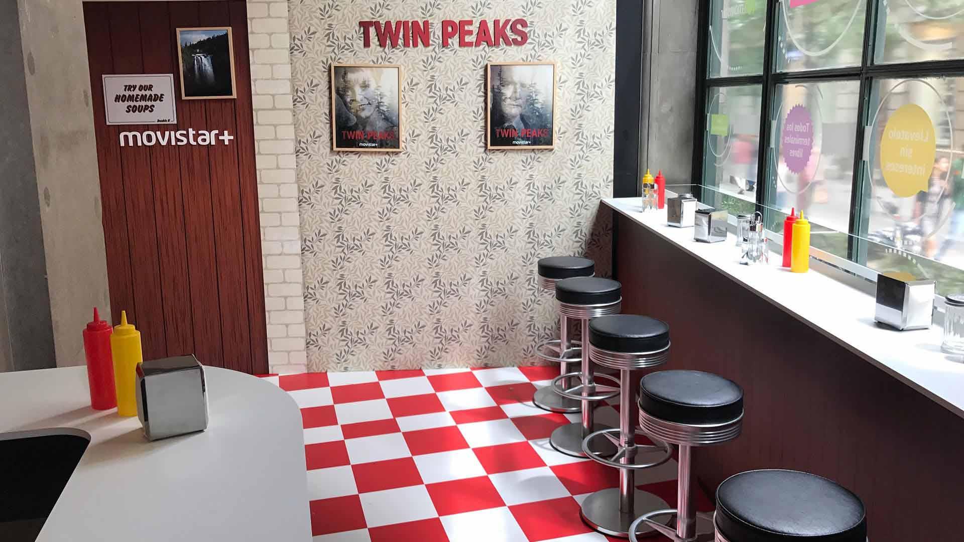 Evento presentación twin peaks. Diseño cafetería