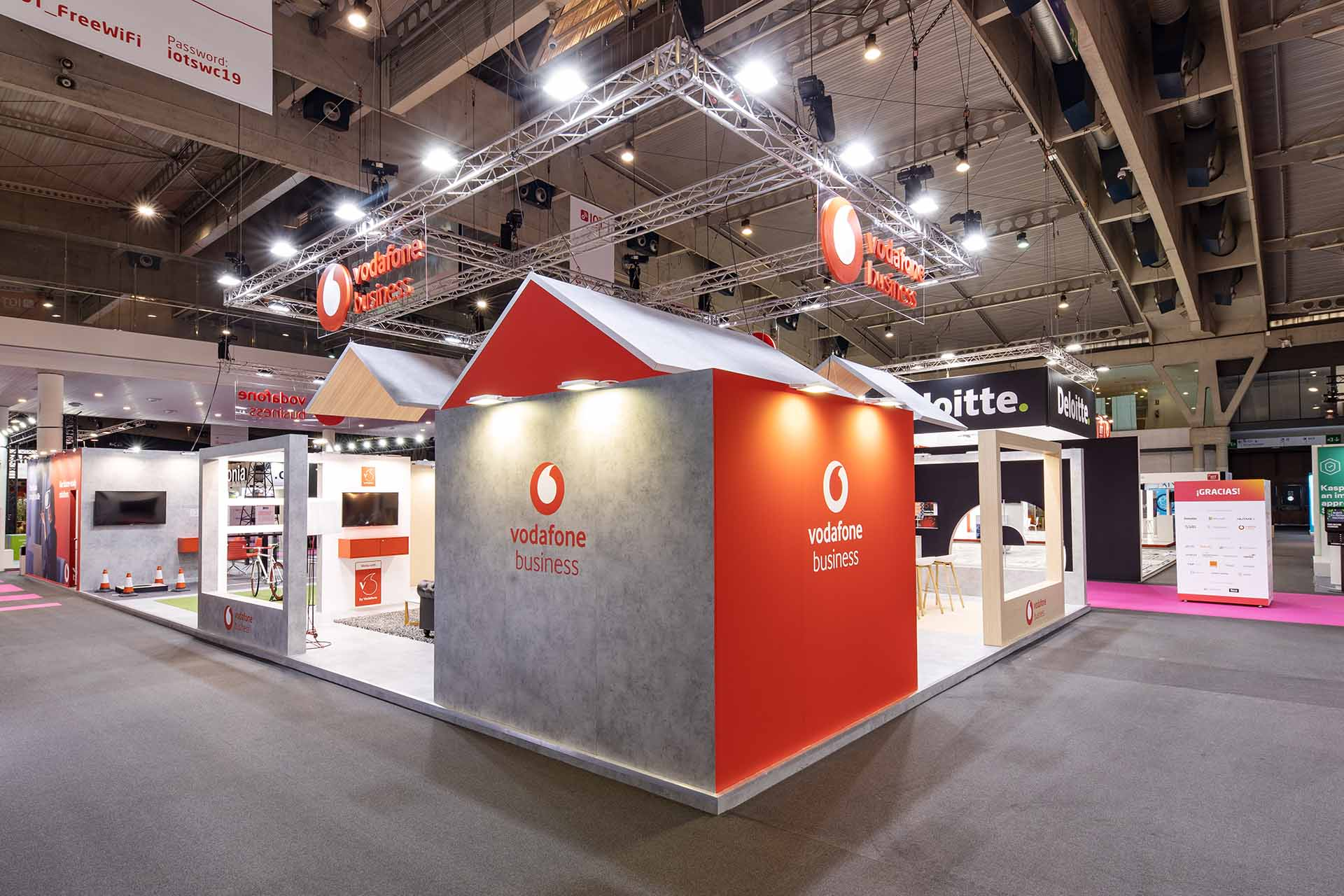 Vodafone stand for IOT fair. Stand design