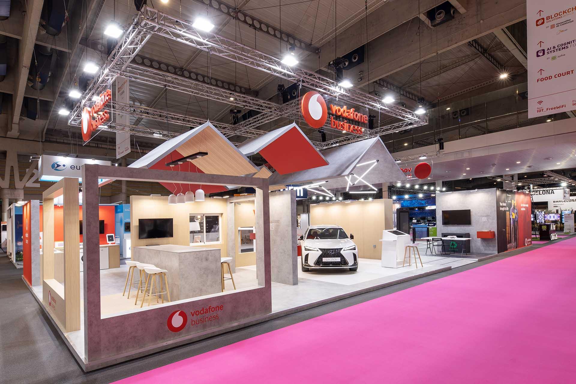 Vodafone stand for IOT fair. Meeting aera design