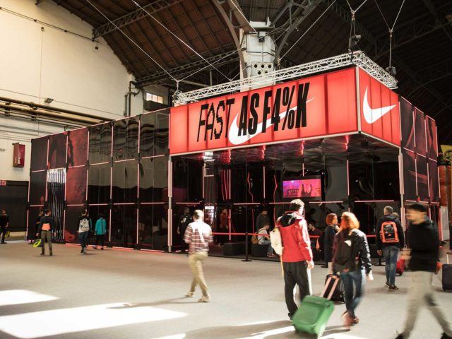 Nike stand at fair. Design and production